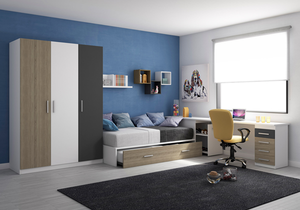Colecci n inydem dise o de muebles juveniles en valencia for Disenador virtual de habitaciones
